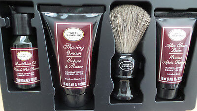 The Art of Shaving Sandalwood Essential Oil 4 Elements Perfect Shave Travel kit