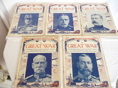 WWI THE GREAT WAR Standard History of the All Europe Conflict Parts 1-5 GC
