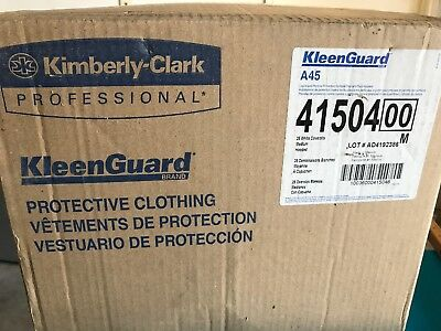 Kleenguard A45 41504 25 Pack Medium White Coveralls Free Ship