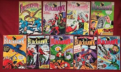 Blackhawk lot of 9, 190, 204, 207-211, 214, 225 1963 DC