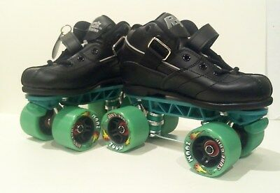 Rock Skates Gt-50 Size 3 Quads 4X4 Black Green Us-3 Eu-35 Uk-2