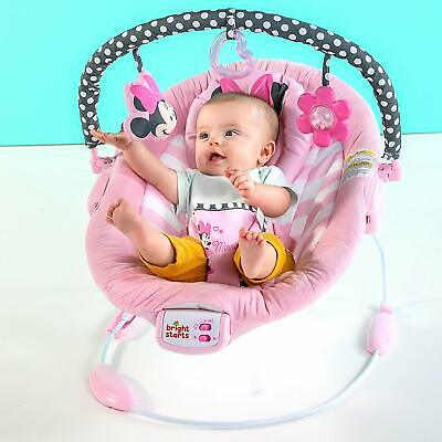 Disney Baby Minnie Mouse Blushing Bows Vibrating Baby Bouncer With 7 Melodies