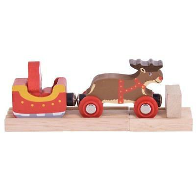 Bigjigs Rail Santa Sleigh with Reindeer - Other Major Wooden Brands are...