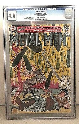 Metal Men #1 (Apr-May 1963, DC) CGC 4.0 off white pages 1 extra staple added