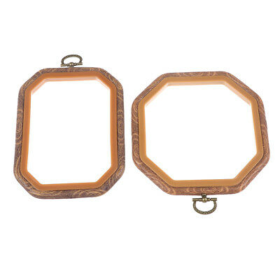 Octagon Cross Stitch Plastic Frame Embroidery Hoop Ring Loop Sewing DIY Craft
