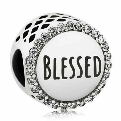 Pandora Blessed Charm WITH Pandora Pouch 100% 925 Sterling Silver