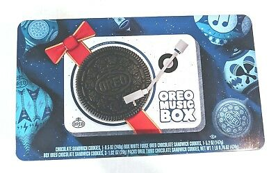 Oreo Music Box Cookie Record Player Collectible Holiday Gift Tin In Box