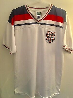 Genuine England Football Soccer Home Shirt 1982 Adult Large Score Draw