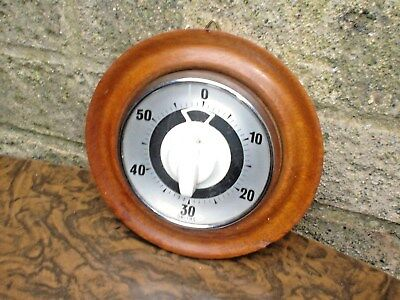 Vintage Smiths Wood One Hour Timer With Loud Buzzer
