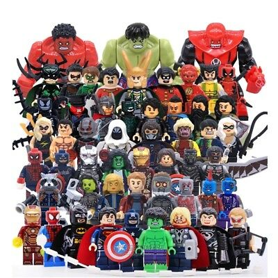 New Marvel's Super Heroes Building Blocks Batman Iron Man Spiderman Figures Toys