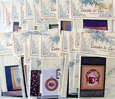 Lavender & Lace Cross Stitch Pattern Charts   NIP  - YOU CHOOSE