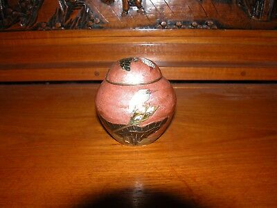 Oriental Urn with lid. 3 3/4 in. high