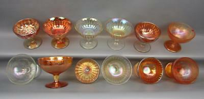 Carnival Glass Marigold SHERBETS Lot of 12 by Imperial, US Glass, Jeannette 5771