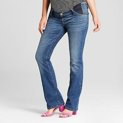NEW! Isabel Maternity Inset/Side Panel Bootcut Jeans, Medium Wash -Various Sizes