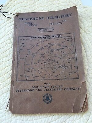 Spring Of 1934 Colorado Mountain States And Telegraph Directory