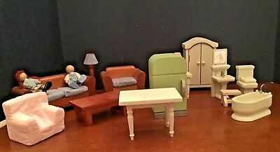 Multi Room Doll House Furniture Made Exclusively For Bombay Company