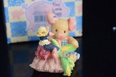 "This Little Piggy"" 1994, NIB, enesco , Nothing Corny Bout you and me"