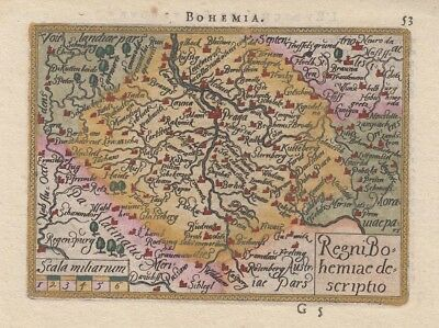 1590 Fine Very Early Ortelius Map of Bohemia