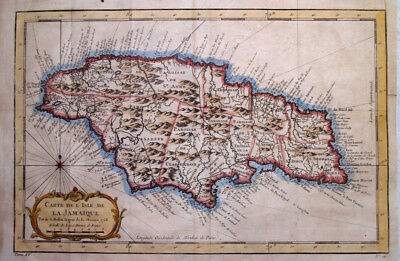 1758 Fine Bellin Map of Jamaica