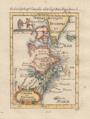1685 Lovely Sought After Mallet Map of Canada