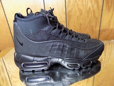 separation shoes 041d0 79948 Nike Air Max 95 Sneakerboot Men s Size 8.5 Triple Black 806809-002 New Boot