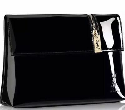 Yves Saint Laurent YSL Cosmetic Clutch   Makeup Bag   Pouch Black or Pink  NEW 6da5d82a18854