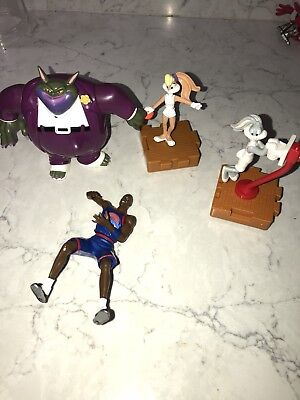 1996 Space Jam Looney Tunes Swackhammer Michael Jordan Bugs Bunny Figure Lot