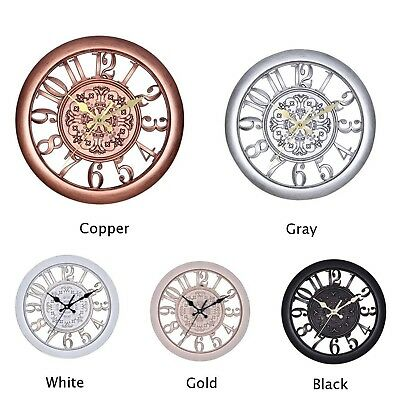 UK Vintage Wall Clock Shabby Chic Rustic Kitchen Home Decor Antique Style