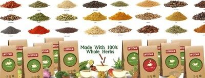 LIFETONE  Ayurveda Herbal Organic Tea bags Choose from 50 Varieties