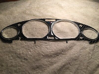 BMW E36 Z3 chrome speedometer rings and carbon look cluster bezel trim