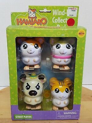 Hamtaro Street Players 2003 Wind-Up Collector 4 Pack Hamsters