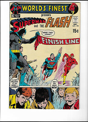 Worlds Finest # 199 Race To Save Time Superman Vs Flash