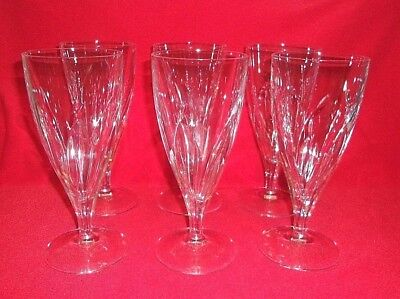 "Cristal D'Arques Durand Crystal Pistil Pattern 8-1/8"" Tall Iced Tea Glass 6 PCS"