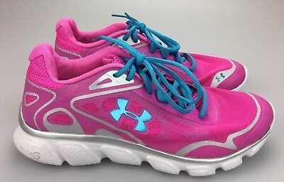 b38949f922bcc UNDER ARMOUR MICRO G Pulse Women's 9 Running Shoes White, Pink ...