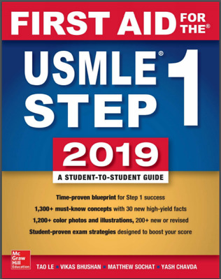 First Aid for the USMLE Step 1 2019 (PDF) *Please Read Description!*