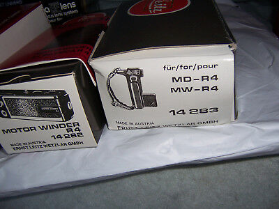 Leica Motor Drive R4 14282 Brand New , Never Used  ,plus includes a free grip