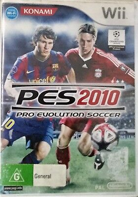 Nintendo Wii Game PES 2010 Pro Evolution Soccer With Instruction Booklet
