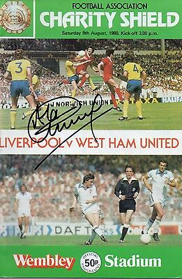 ALAN KENNEDY In Person Signed 1980 CHARITY SHIELD Programme LIVERPOOL Proof COA