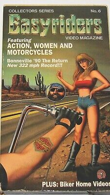 """Bikers #6 VHS """"Action, Women and Motorcycles"""".  '90 Bonneville and more"""