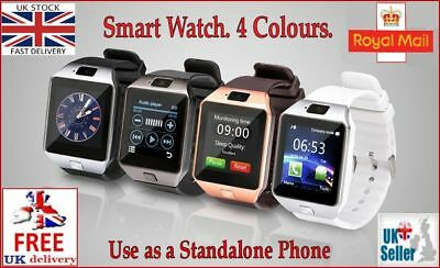 DZ09 Smart Watch Bluetooth, Sim, Camera, Whatsapp, Facebook. Android & IOS. U.K.
