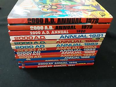 2000AD annual collection 1978-1991 - 14 annual full set VGC unclipped (LOT#6026)