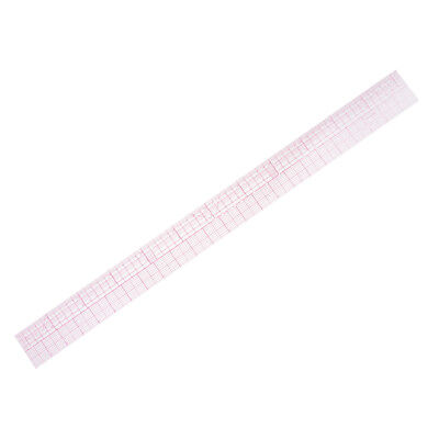 1Pcs Clear Imperial & Metric Ruler Quilting Template for Dressmaking Sewing