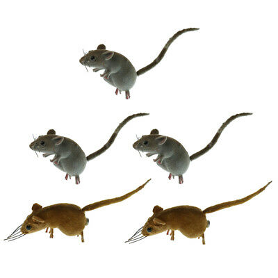 4pcs Realistic Full Size Fake Clay Mouse Realistic Looking Mice Toys
