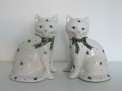 Pair of vintage Rye Pottery cats