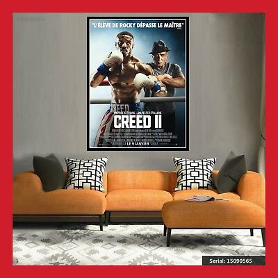 TOILE AFFICHE FR CINEMA MOVIE SORTIE FILM POSTER PHOTO CREED 2 DVD 40x60 60x80cm