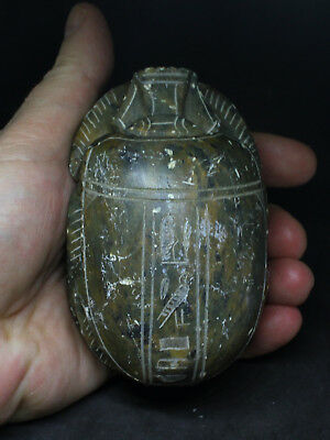 Antique Egyptian Large Stone carved Scarab