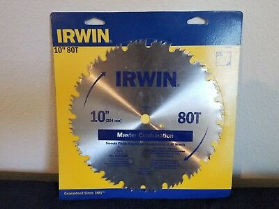 IRWIN Tools Steel Table/Miter Circular Saw Blade, 10-Inch, 80 Tooth (11270ZR)