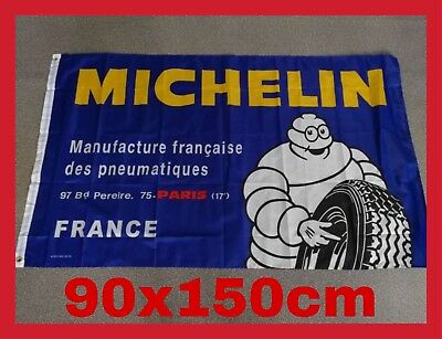 Banniere Publicitaire Collection Drapeau Michelin Vintage Pneu Bibendum Garage