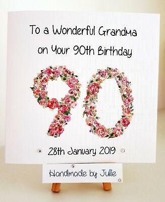 PERSONALISED 90th Birthday Card 60th 70th 80th Mum Aunt Nan Wife