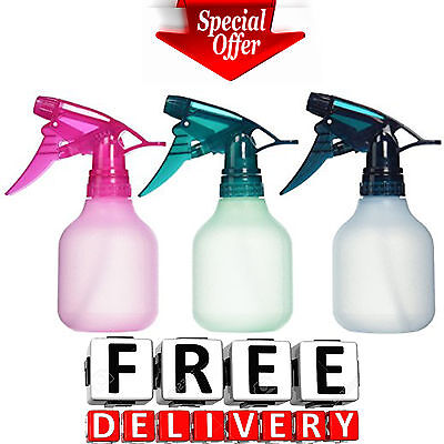 Empty Spray Bottle 3Pc 8Oz Water Chemical Small Lot Travel Pump Plastic Trigger